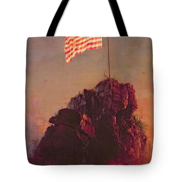 Our Flag Tote Bag by Frederic Edwin Church