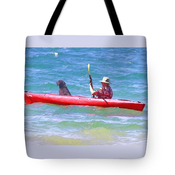 Out For A Ride Tote Bag by Susan Crossman Buscho