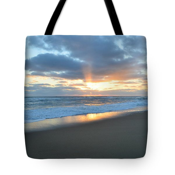 Tote Bag featuring the photograph Outer Banks Sunrise  by Barbara Ann Bell