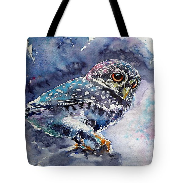 Owl At Night Tote Bag