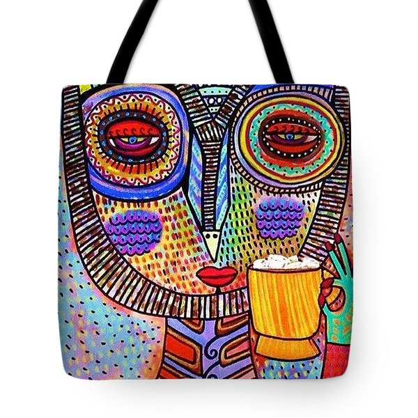 Owl Goddess Drinking Hot Chocolate Tote Bag