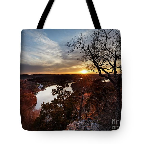 Tote Bag featuring the photograph Ozark Sunset by Dennis Hedberg