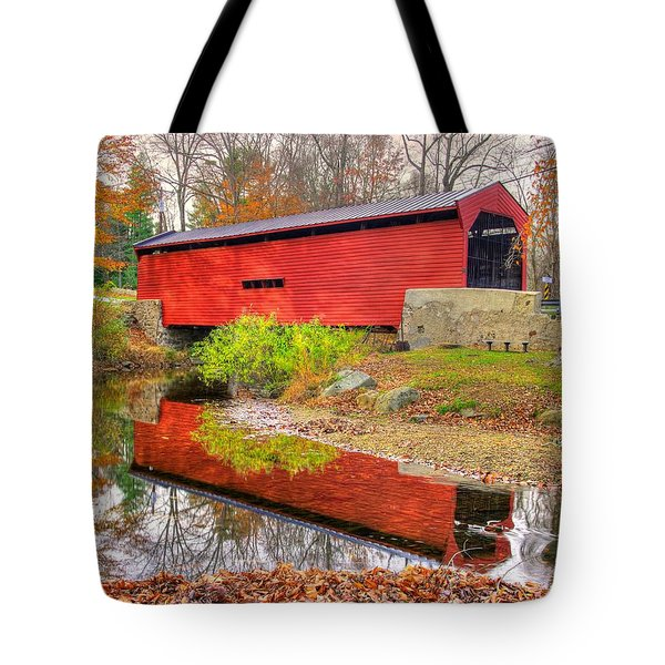 Pa Country Roads- Bartrams / Goshen Covered Bridge Over Crum Creek No.11 Chester / Delaware Counties Tote Bag