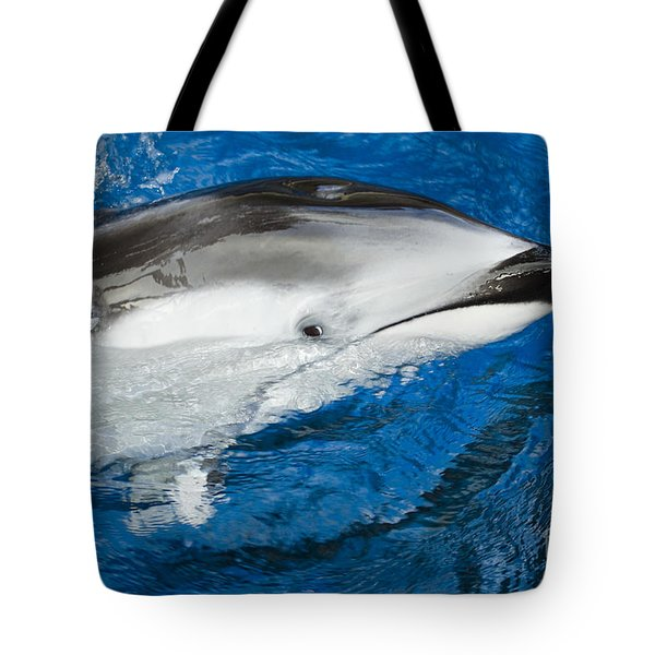 Pacific White-sided Dolphin Tote Bag by Dave Fleetham - Printscapes