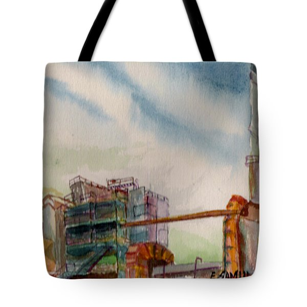Tote Bag featuring the painting Paia Mill 2 by Eric Samuelson