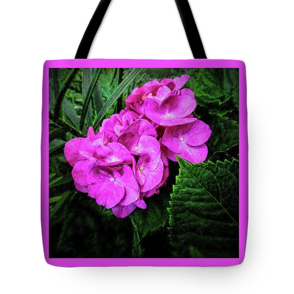 Painted Hydrangea Tote Bag