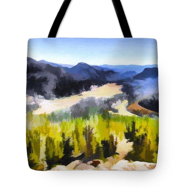 Painted Rockies Tote Bag
