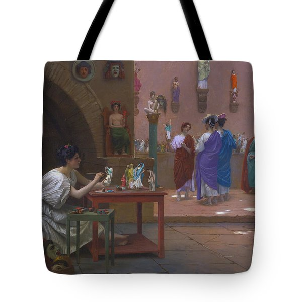 Painting Breathes Life Into Sculpture Tote Bag