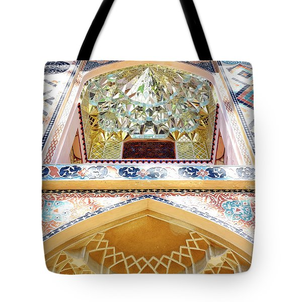 Tote Bag featuring the photograph Detail Of The Palace Of Sheki Khans by Fabrizio Troiani