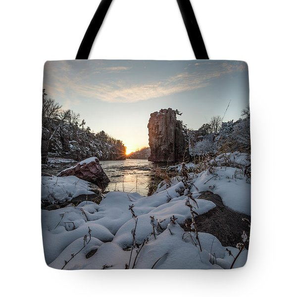 Tote Bag featuring the photograph  Palisades First Snow by Aaron J Groen