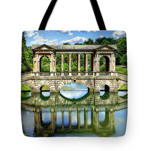 Palladian Bridge Nature Scene Tote Bag