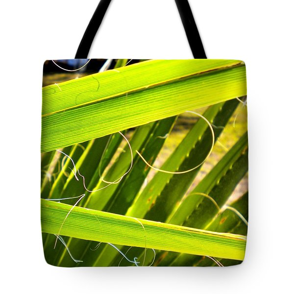 Tote Bag featuring the painting Palmetto 3 by Renate Nadi Wesley