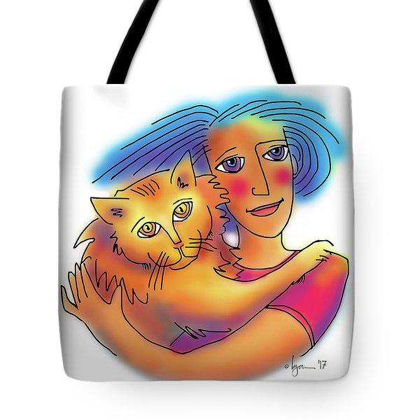 Pals Tote Bag by Angela Treat Lyon