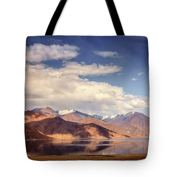 Tote Bag featuring the photograph Pangong Tso Lake by Alexey Stiop