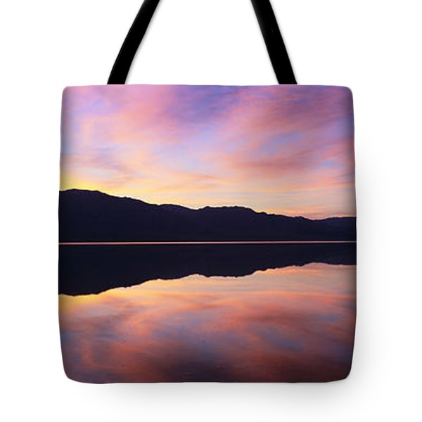 Panoramic View At Sunset Of Flooded Tote Bag