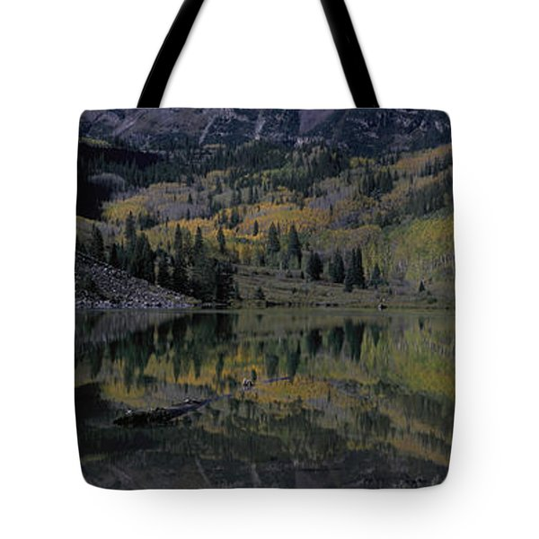 Panoramic View Of Autumn Colors Tote Bag