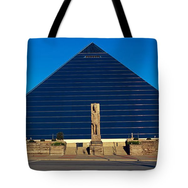 Panoramic View Of The Pyramid Sports Tote Bag