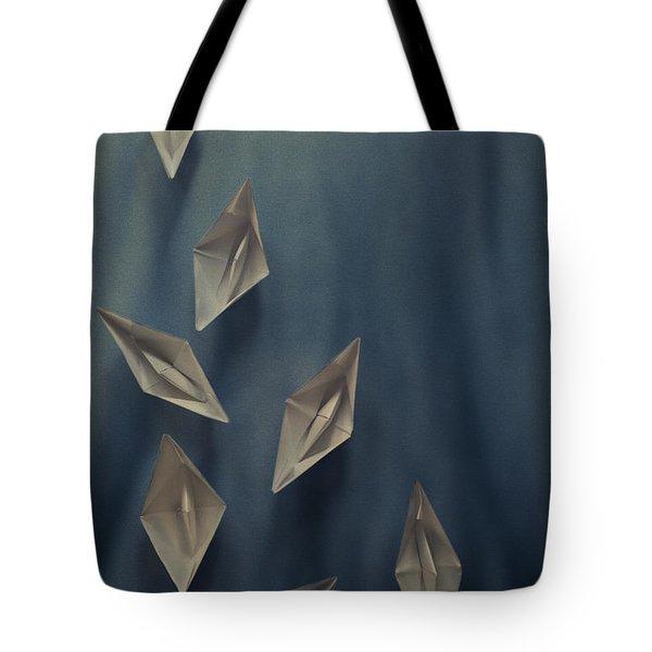 Paper Boats Tote Bag