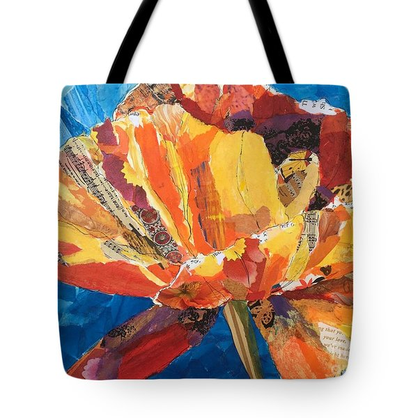 Paper Poppy Tote Bag