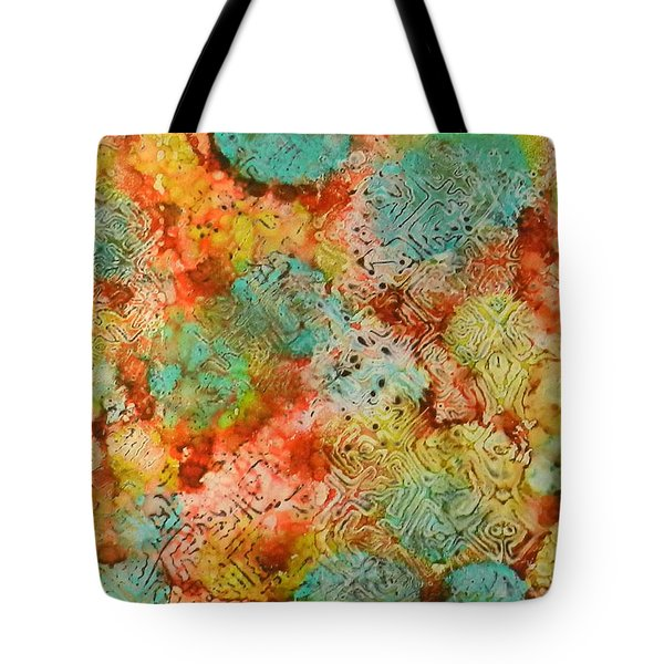 Tote Bag featuring the painting Paprika Drift Ink #18 by Sarajane Helm