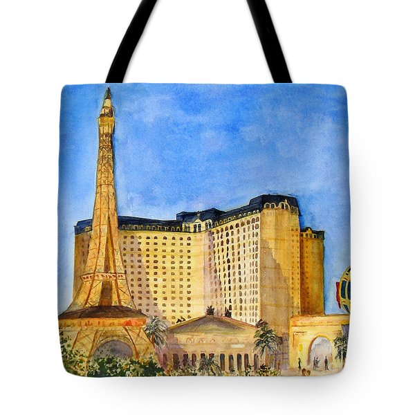 Paris Hotel And Casino Tote Bag by Vicki  Housel