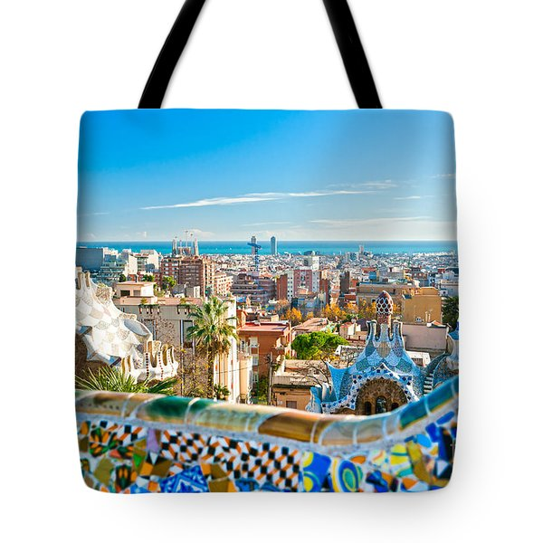 Park Guell Barcelona Tote Bag by Luciano Mortula