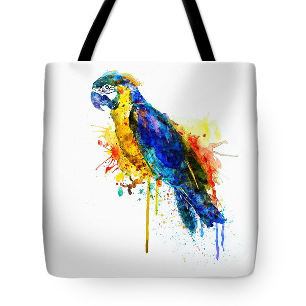 Parrot Watercolor  Tote Bag by Marian Voicu