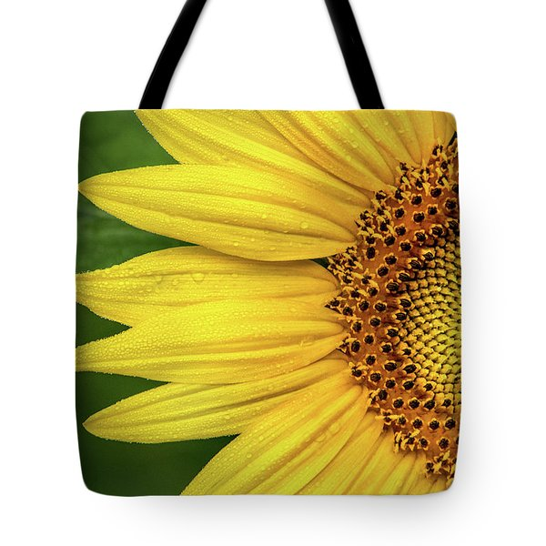 Partial Sunflower Tote Bag