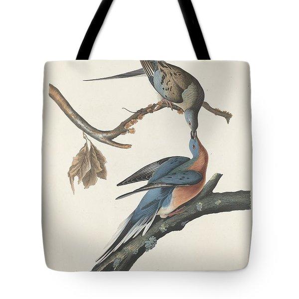 Passenger Pigeon Tote Bag by Anton Oreshkin