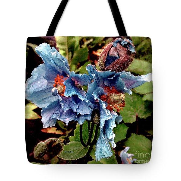 Pavot Bleu // Meconopsis Betonicifolia 2 // Blue Poppy Tote Bag