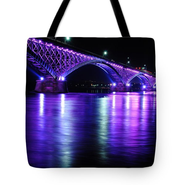 Peace Bridge Supporting Breast Cancer Awareness Tote Bag