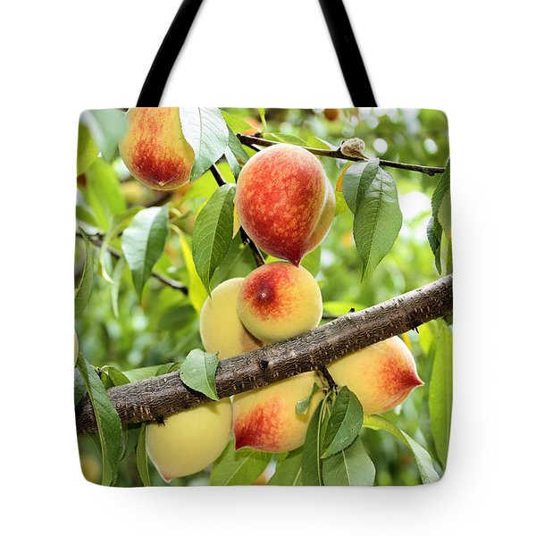 Tote Bag featuring the photograph Peaches by Kristin Elmquist
