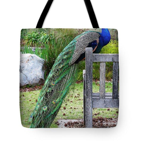 Peacock Tote Bag by Nicholas Burningham