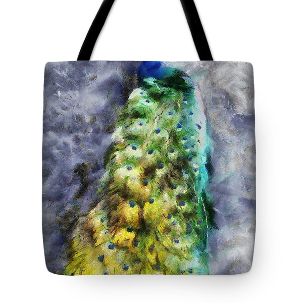 Peacock Portrait Tote Bag
