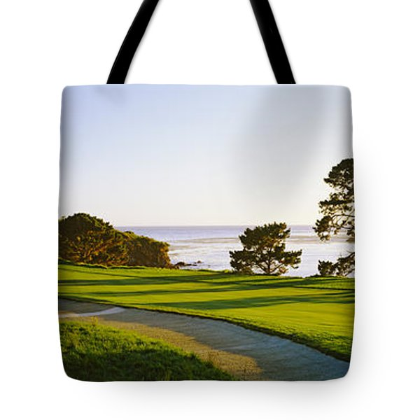 Pebble Beach Golf Course, Pebble Beach Tote Bag