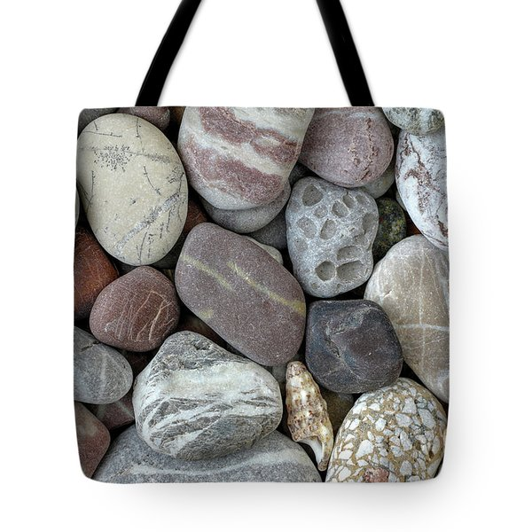 Pebbles In Earth Colors - Stone Pattern Tote Bag by Michal Boubin
