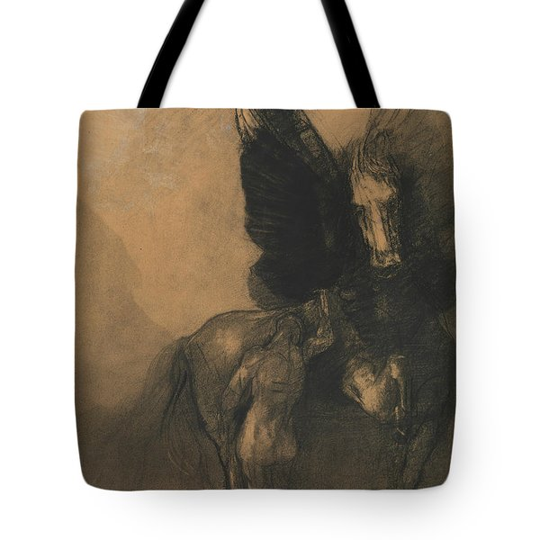 Pegasus And Bellerophon Tote Bag by Odilon Redon