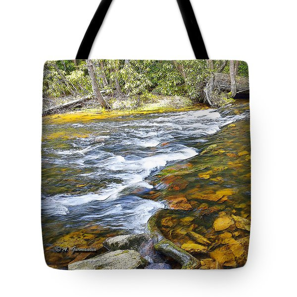 Pennsylvania Mountain Stream Tote Bag