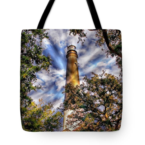 Pensacola Lighthouse Tote Bag by Anthony Dezenzio