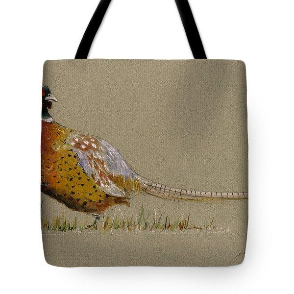 Pheasant Bird Art Tote Bag