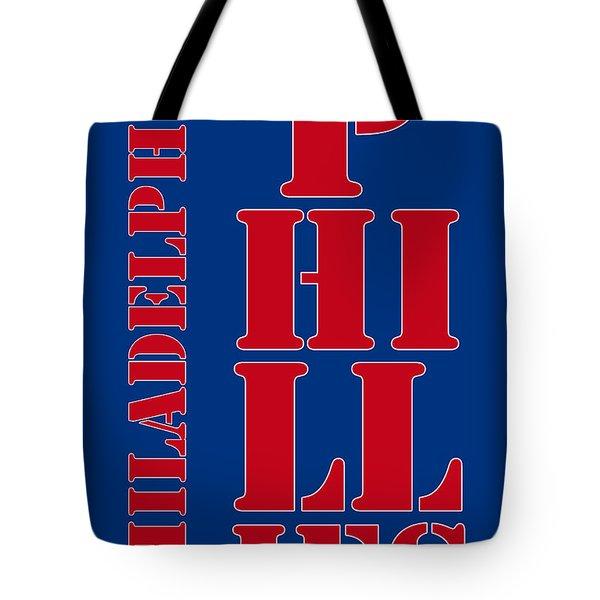 Philadelphia Phillies Typography Tote Bag