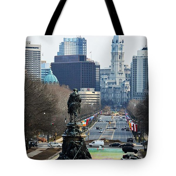 Philadelphia - The Parkway Tote Bag by Cindy Manero