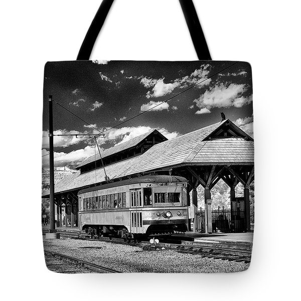 Tote Bag featuring the photograph Philadelphia Trolley by Paul W Faust - Impressions of Light