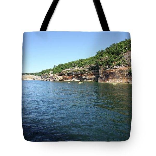 Tote Bag featuring the photograph Pictured Rocks by Jackson Pearson