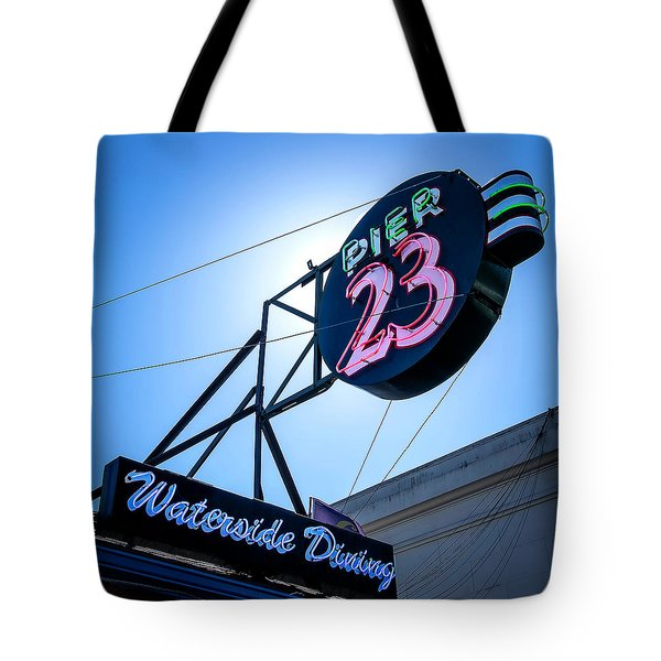 Pier 23 Tote Bag by Jerry Golab
