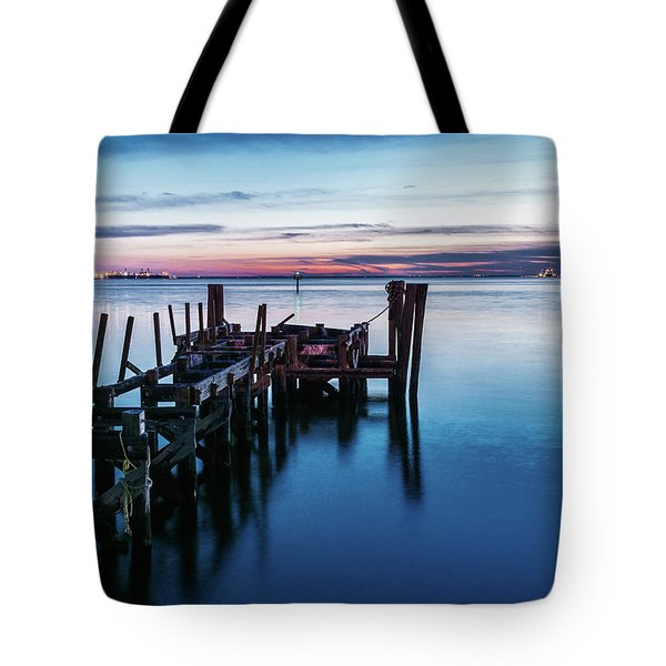 Pier Ruins At Chamberlin Tote Bag