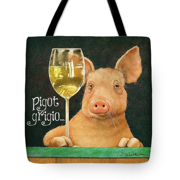 Tote Bag featuring the painting Pigot Grigio... by Will Bullas