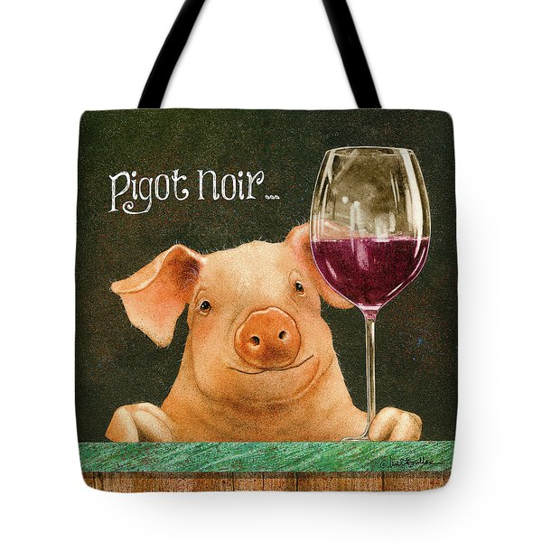 Tote Bag featuring the painting Pigot Noir... by Will Bullas