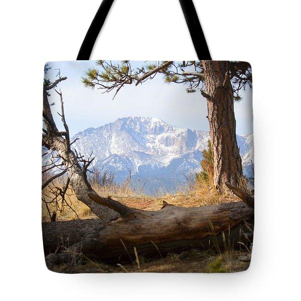 Pikes Peak And Trail To Bald Mountain Tote Bag