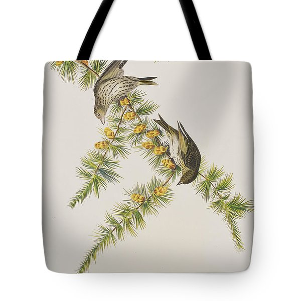 Pine Finch Tote Bag by John James Audubon